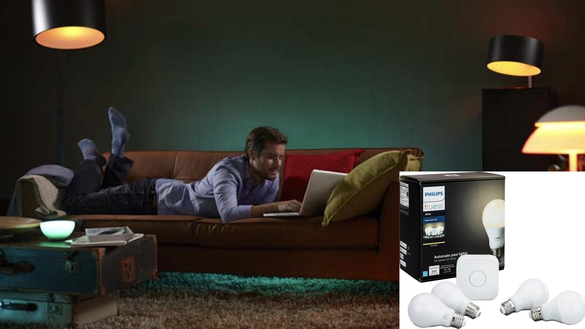 間接照明をスマホで一括操作!Philips Hueランプ設定方法